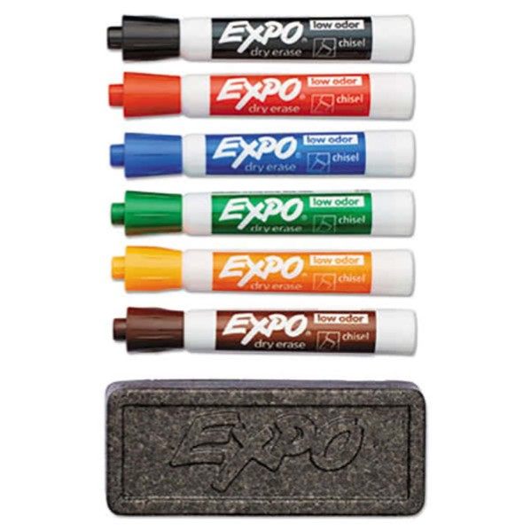 Whiteboard Accessory Kit - Dry Erase Markers and Eraser