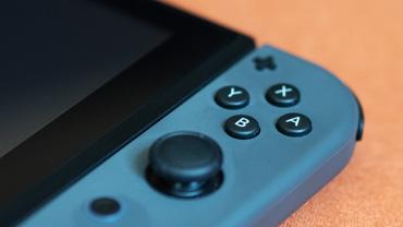 Closeup of a Nintendo Switch controller