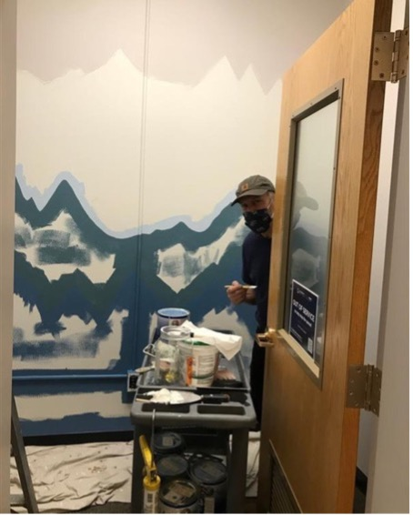 Painting the new Reflection Room