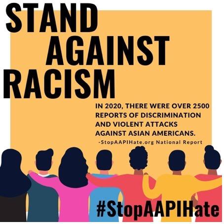 Intentional DI&A social media:  Countering Asian American discrimination.