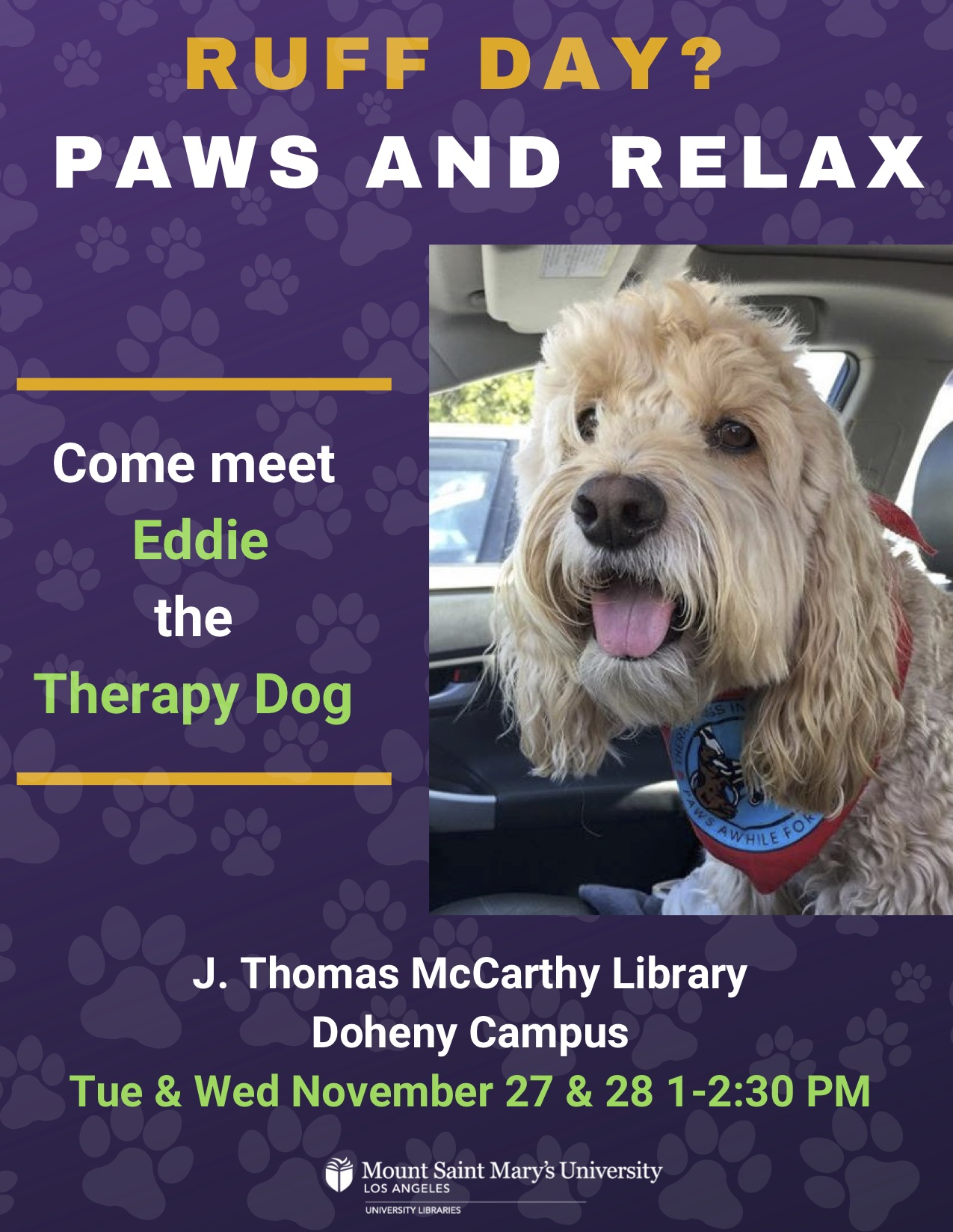 Therapy Dog Event Flyer
