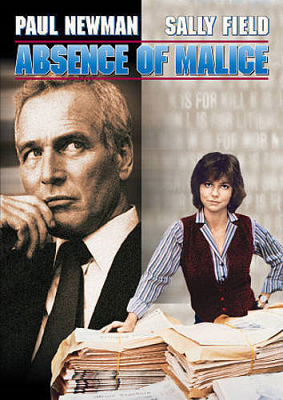 Absence of Malice dvd cover