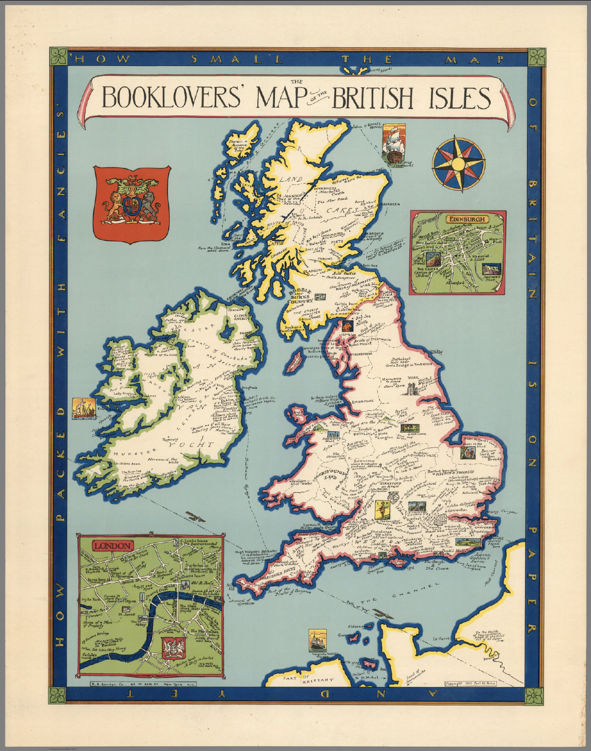 The booklovers' map of the British Isles - David Rumsey Historical Map Collection