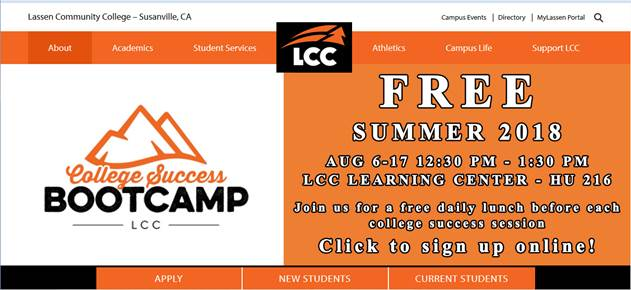Free Summer 2018 College Success BootCamp