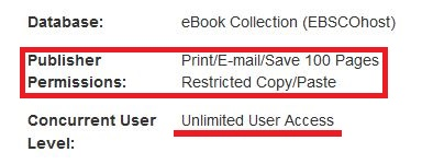 Red box around print, email, save Publisher Permissions