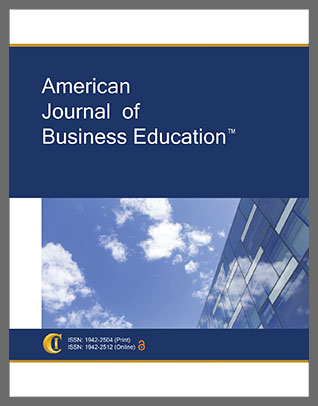 American journal of business education. Cover art