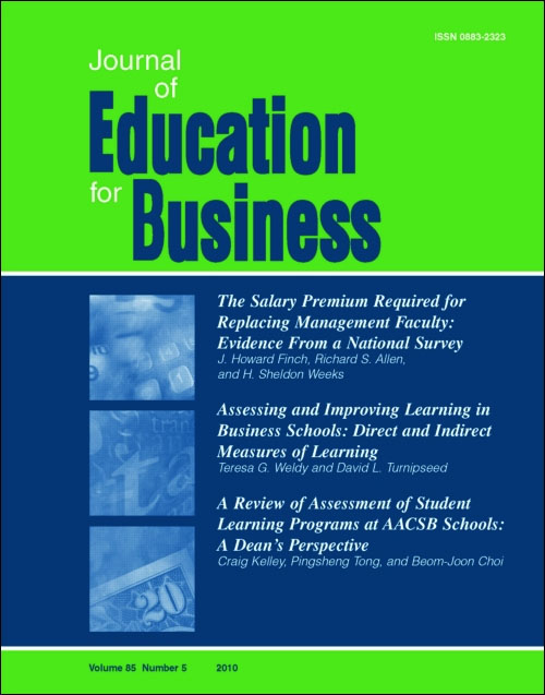 Journal of education for business. Cover art