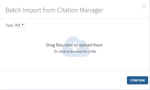 Image Batch Import from Citation Manager