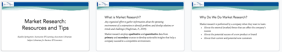 Market Research Slides