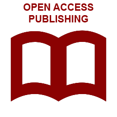Red book clipart with link to IU open access publishing web page
