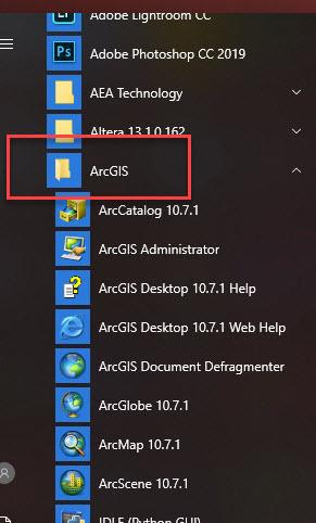 ArcGIS Folder Available in Trinity's VDI