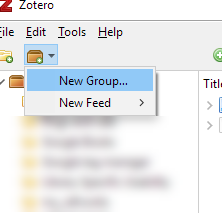 Create a New Group in Zotero Desktop