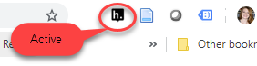 Hypothesis icon in chrome