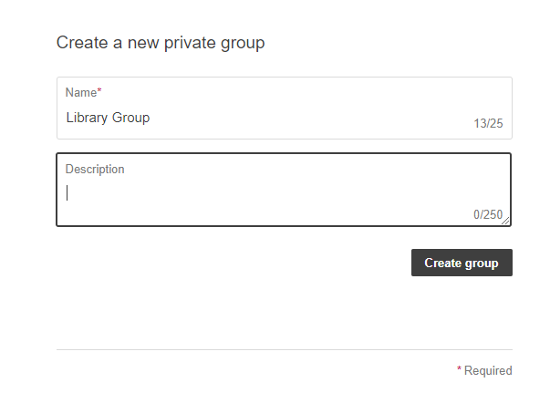 Create New Private Group in Hypothesis
