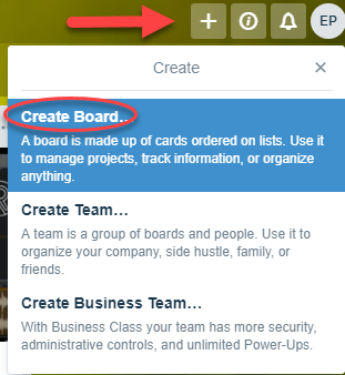 Create a Board in Trello