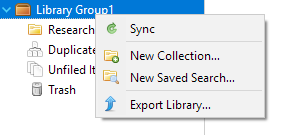 Creating a New Collection for a Zotero Library