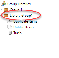 Group in Left Pane in Zotero