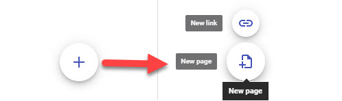 Use the plus sign on the pages sidebar to create a new page