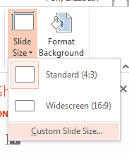 PowerPoint Slide Size Setup