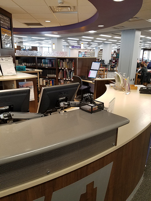 all interlibrary loan books are at the circular front circulation desk