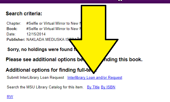 Inter Library loan link