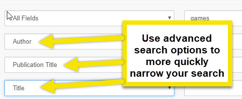 try using the advanced search with author and title to find your article easier