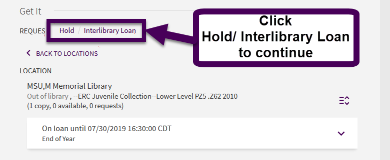 On the next screen click the InterLibrary Loan link