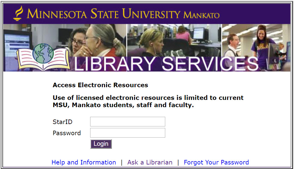Login to access Electronic Resources