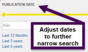 use the date range option to narrow down your results