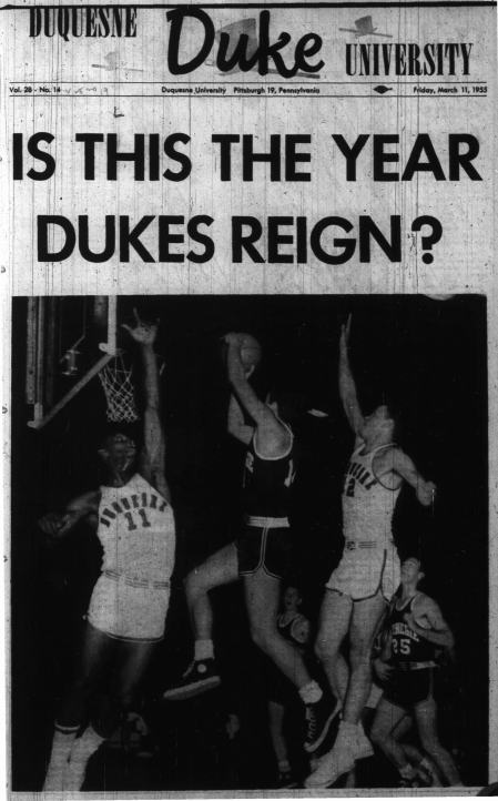 "A Headline from the ""Duke"" reading, ""Is this the year the Dukes reign?"""