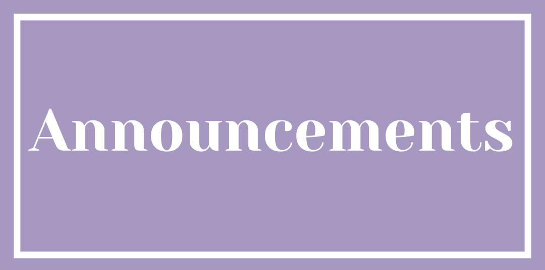 Announcements ]