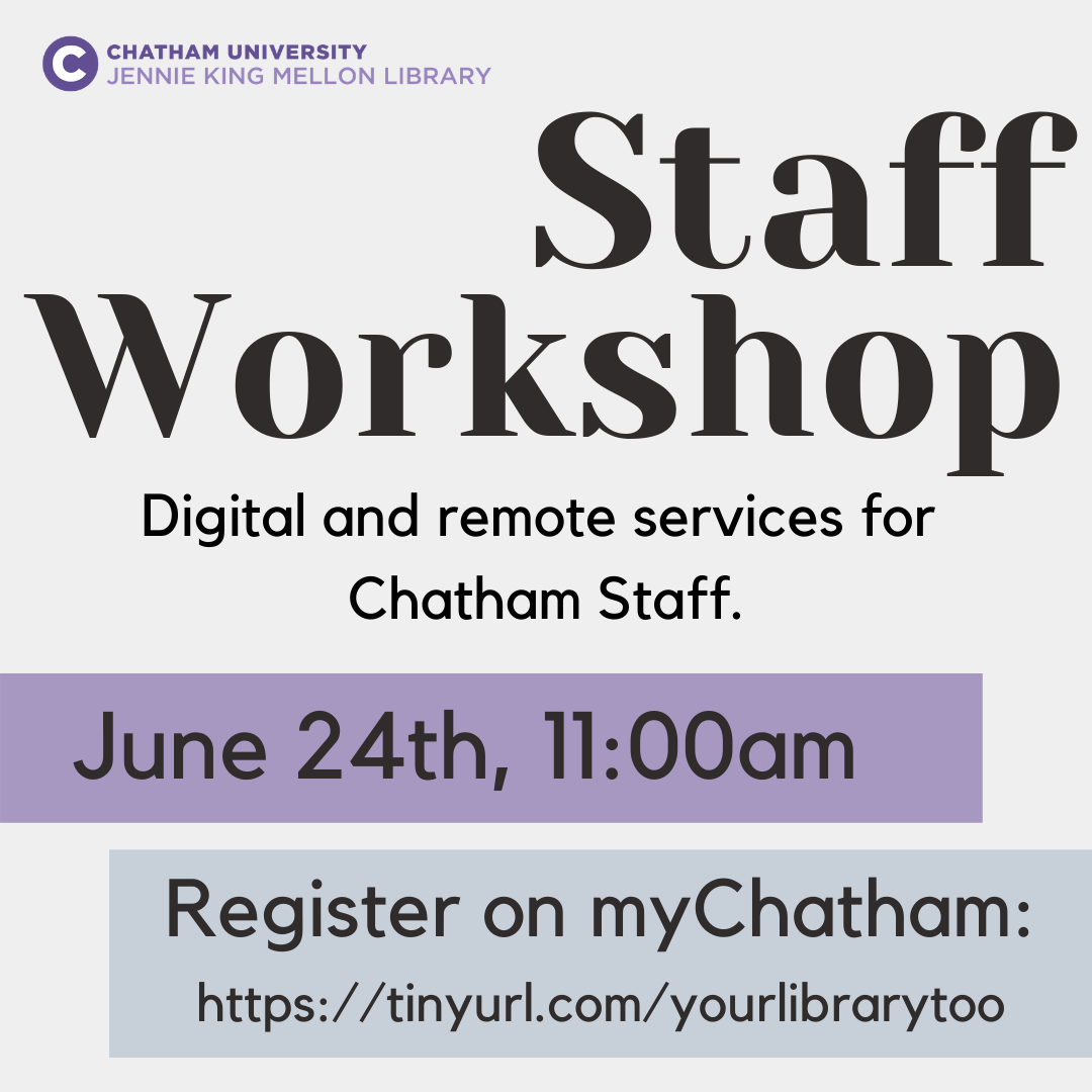 Digital & Remote Services for Staff (click to view YouTube recording)