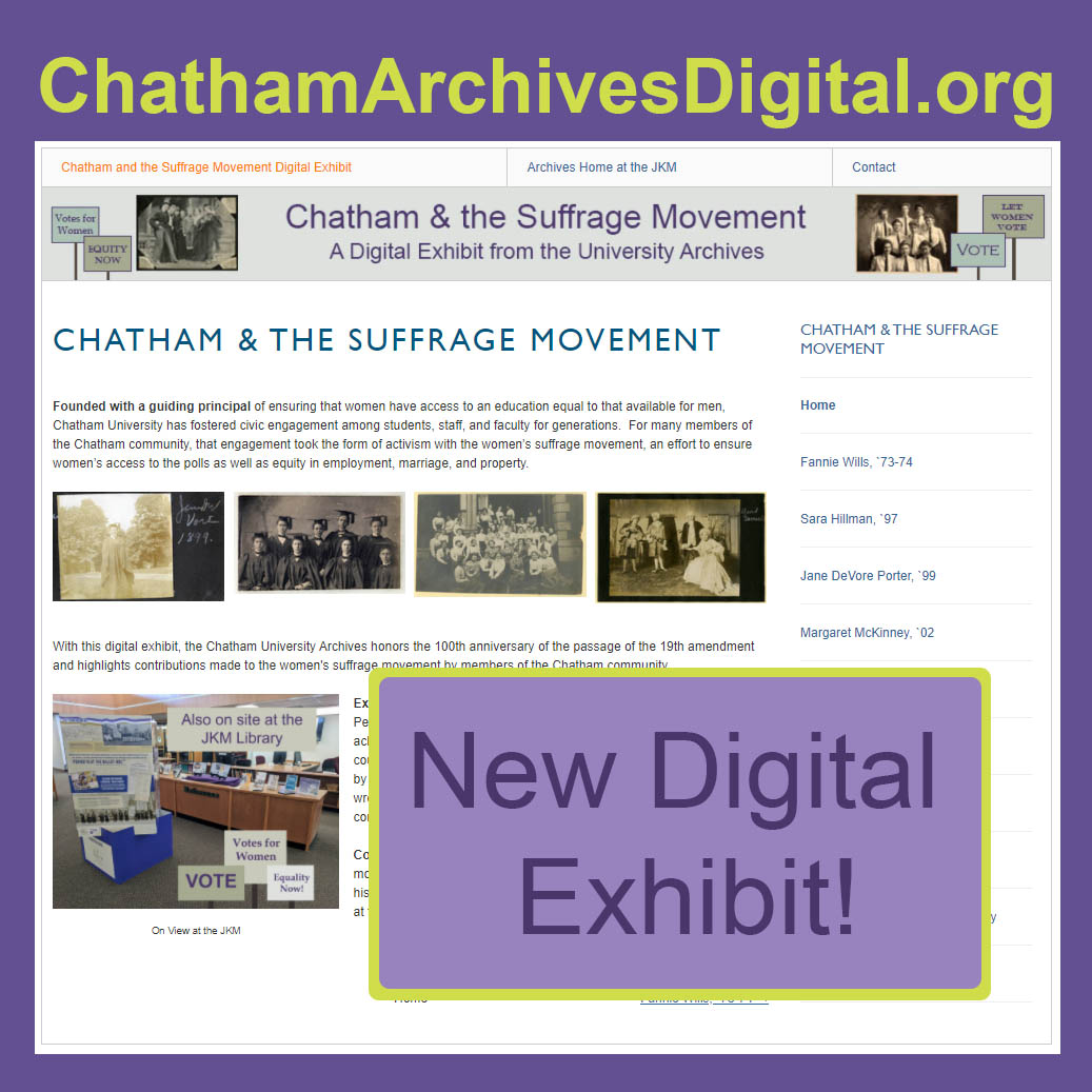Chatham & the Suffrage Movement from the Chatham Archives