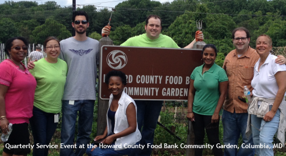 Quarterly service event at the Howard County Food Bank Community Garden, Columbia, MD