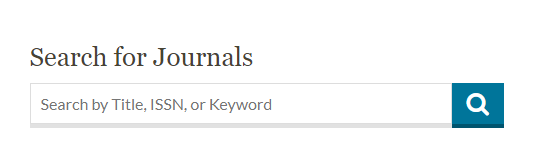 journal search box