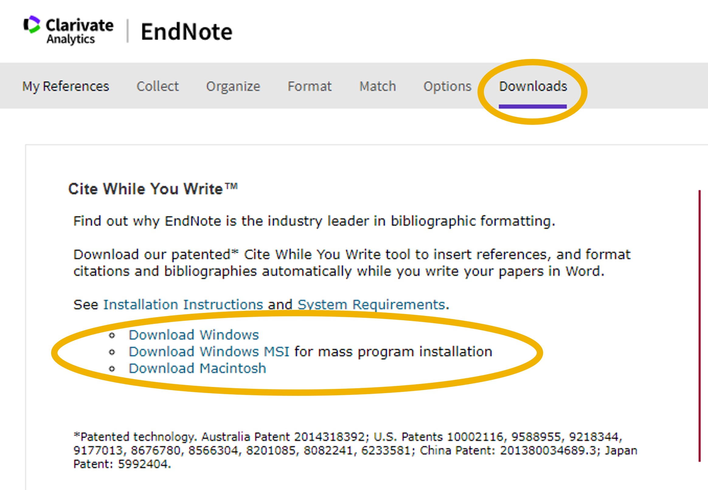 Download EndNote Cite While You Write