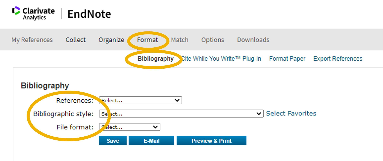 Create a Biblopgraphy