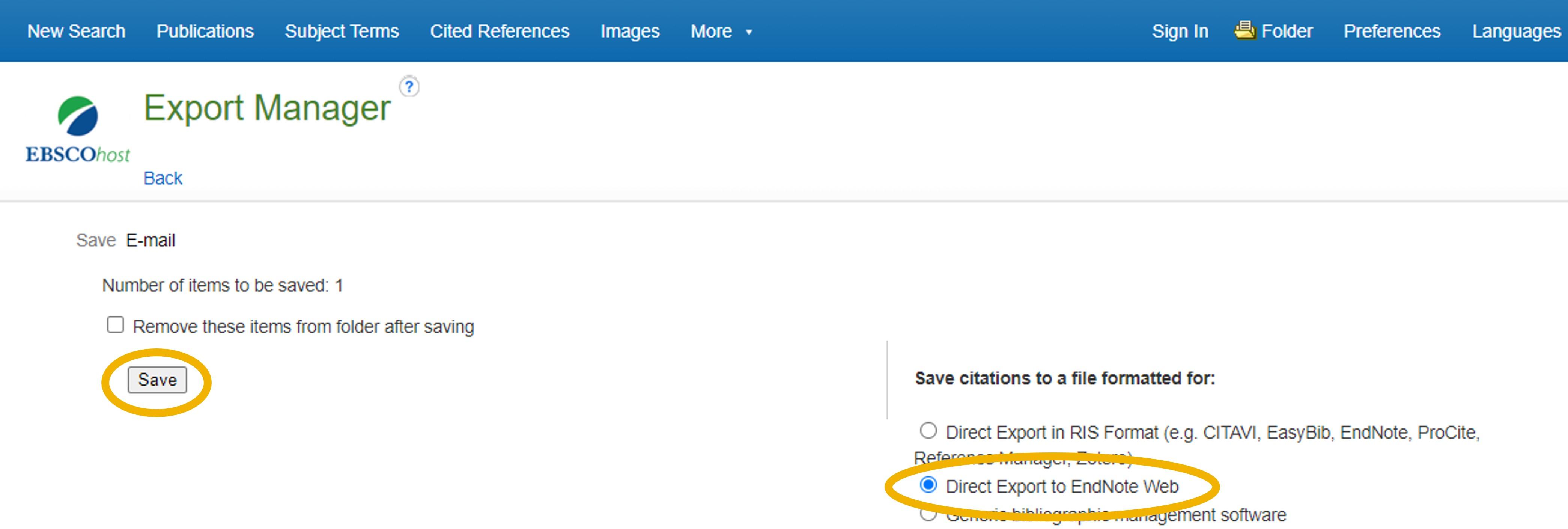 EBSCO Export