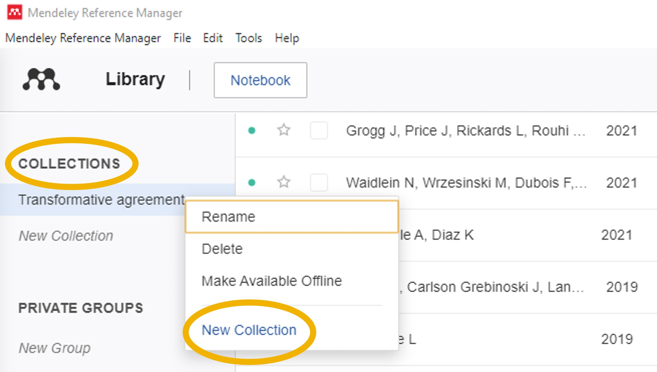 Mendeley Collections