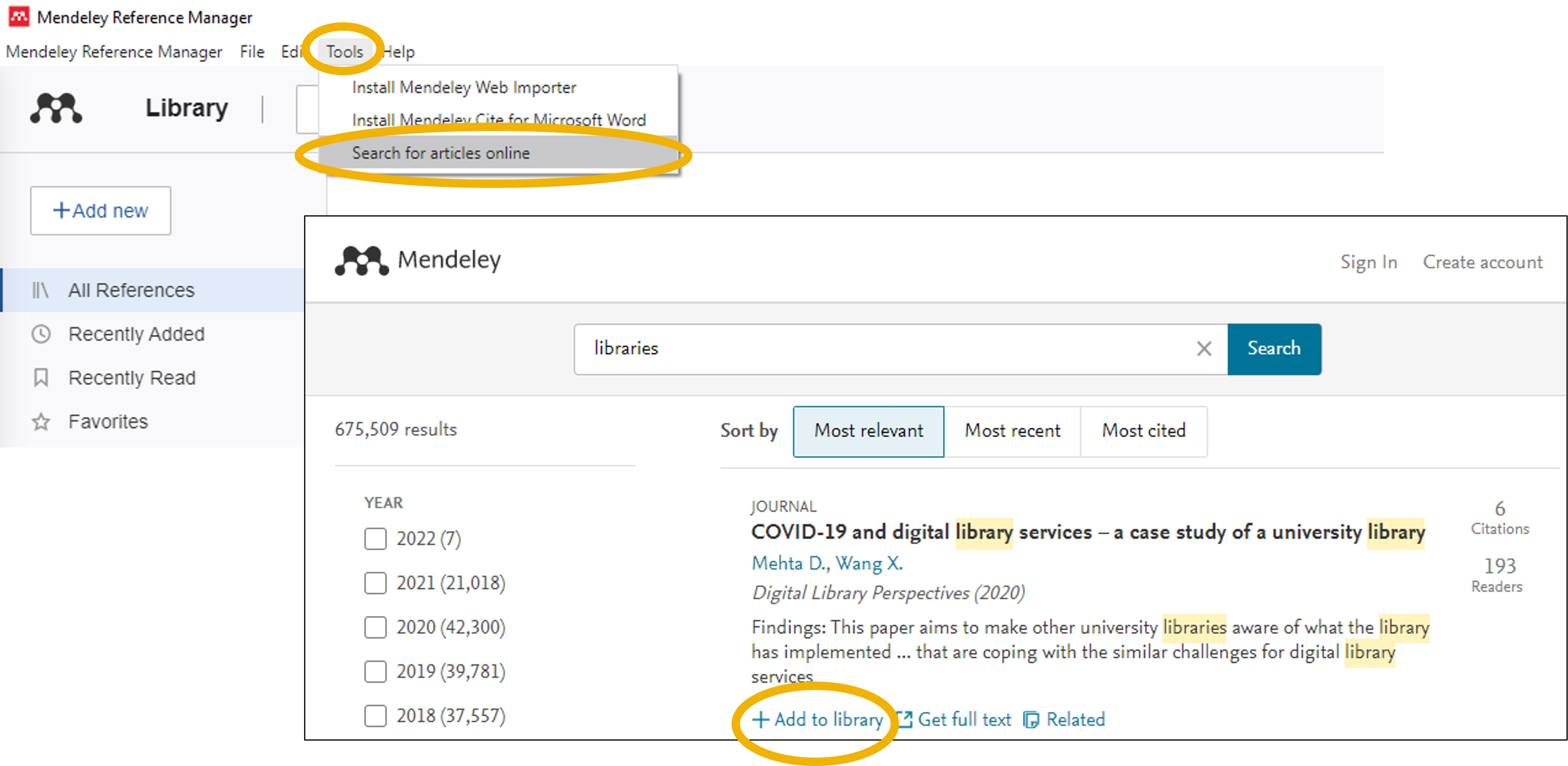 Search Mendeley's Web Catalog