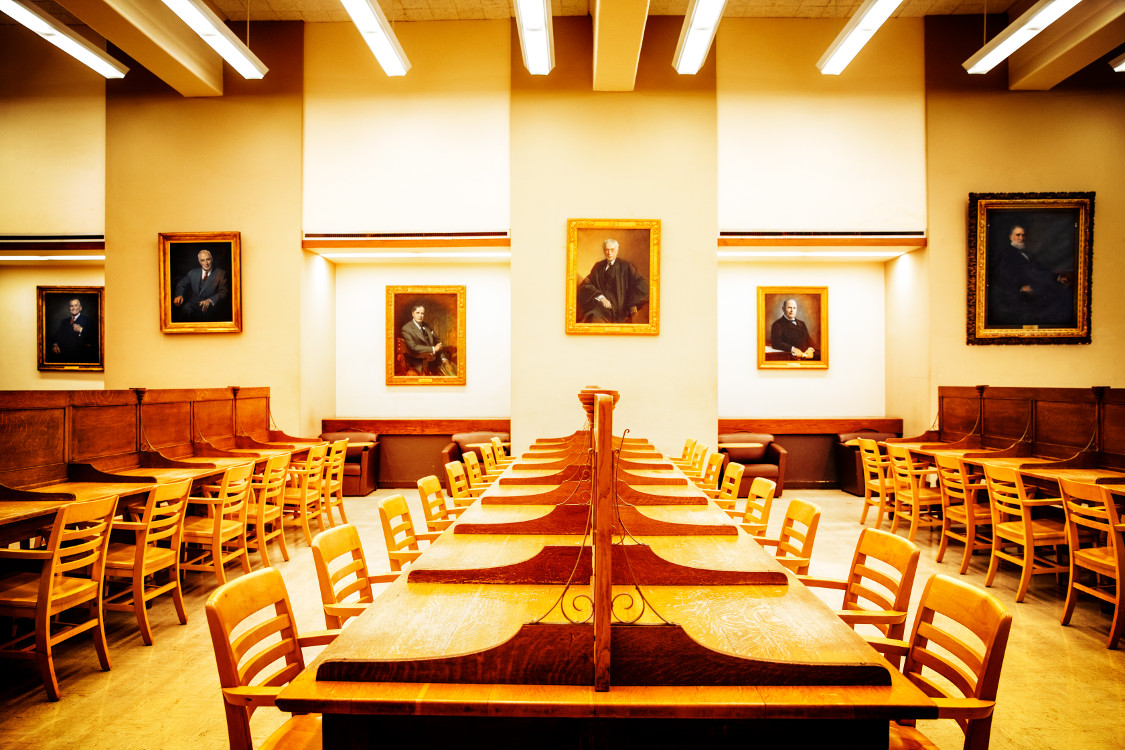 The Fiske Room of Uris Library awaits the return of students.