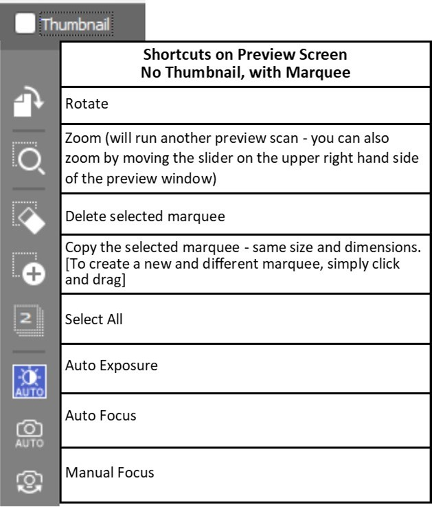 Shortcuts no thumbnail