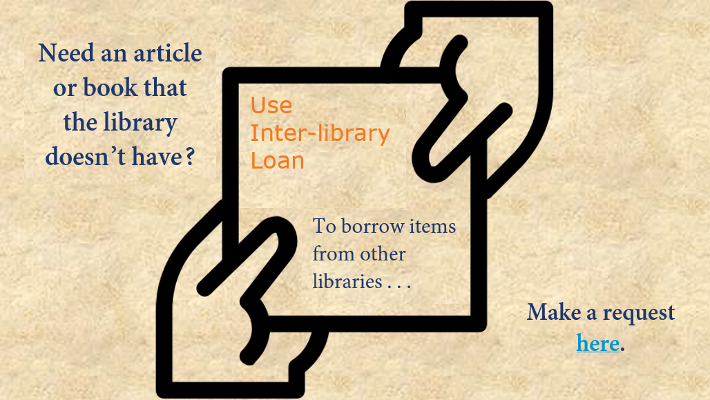Link to Interlibrary loan request form