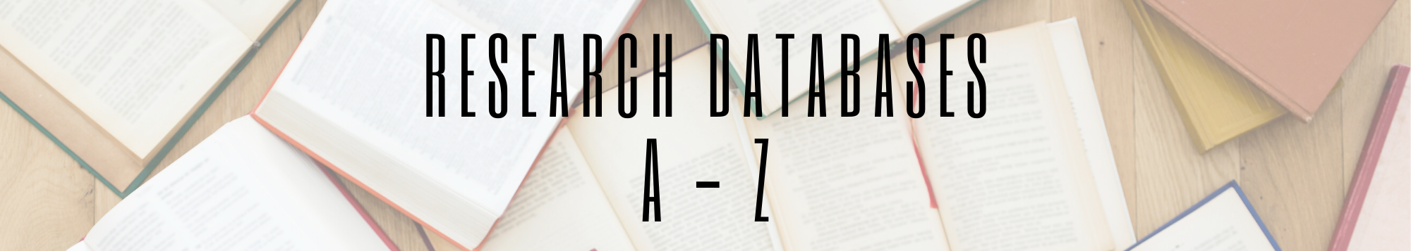 Research Databases A - Z