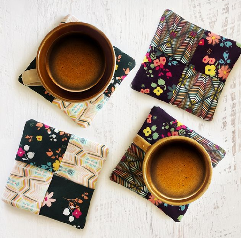 Discover: Sewing - Fabric Coasters