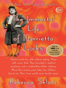 Cover art for The Immortal Life of Henrietta Lacks by Rebecca Skloot