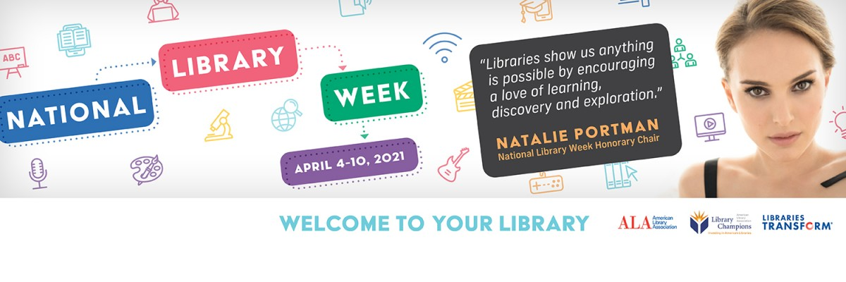 National Library Week 2021 Banner