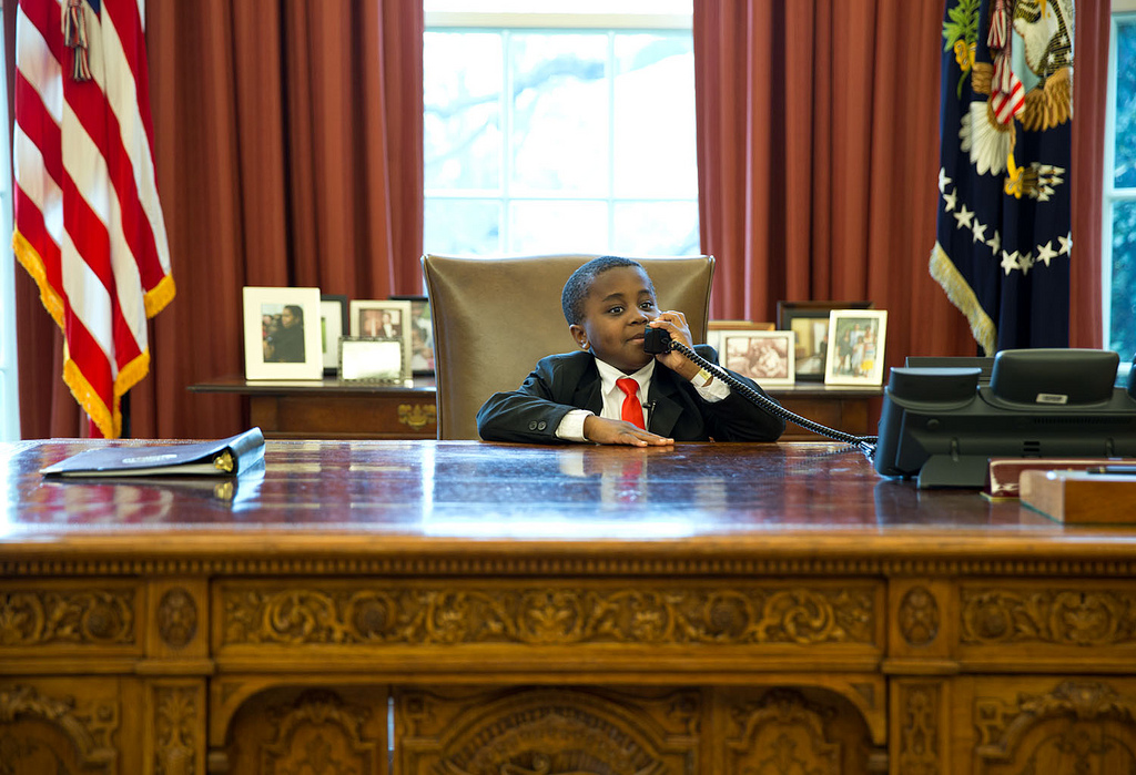Kid President in the Oval Office