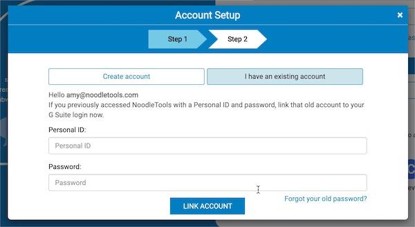 Account Setup Step 2