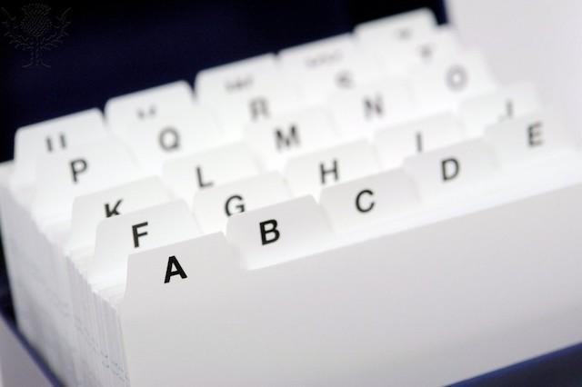 Card index box - Britannica ImageQuest